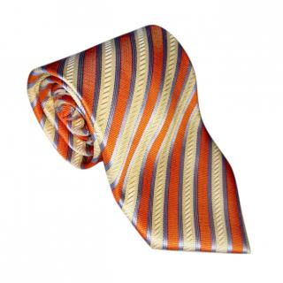 Louis Vuitton Striped Silk Neck Tie