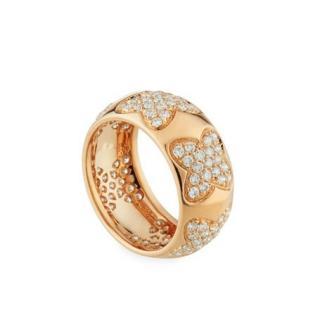 Recarlo 18k Rose Gold Diamond Multi-Clover Ring