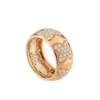 Recarlo 18k Rose Gold Diamond Multi-Clover Ring