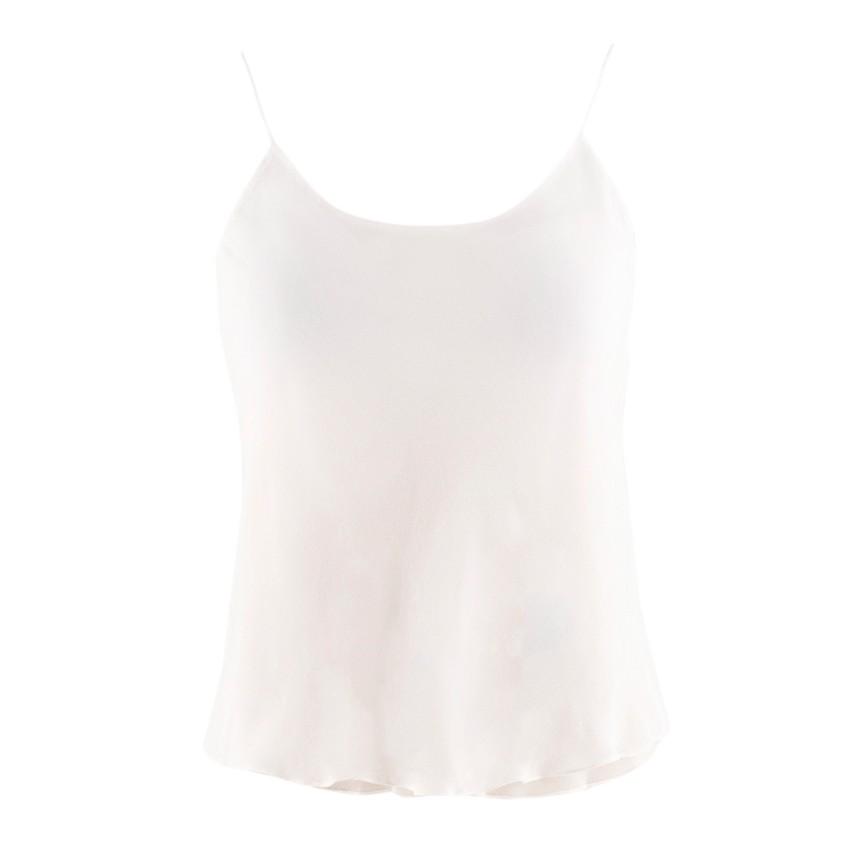 Oscar de la Renta Cream Silk Camisole Top
