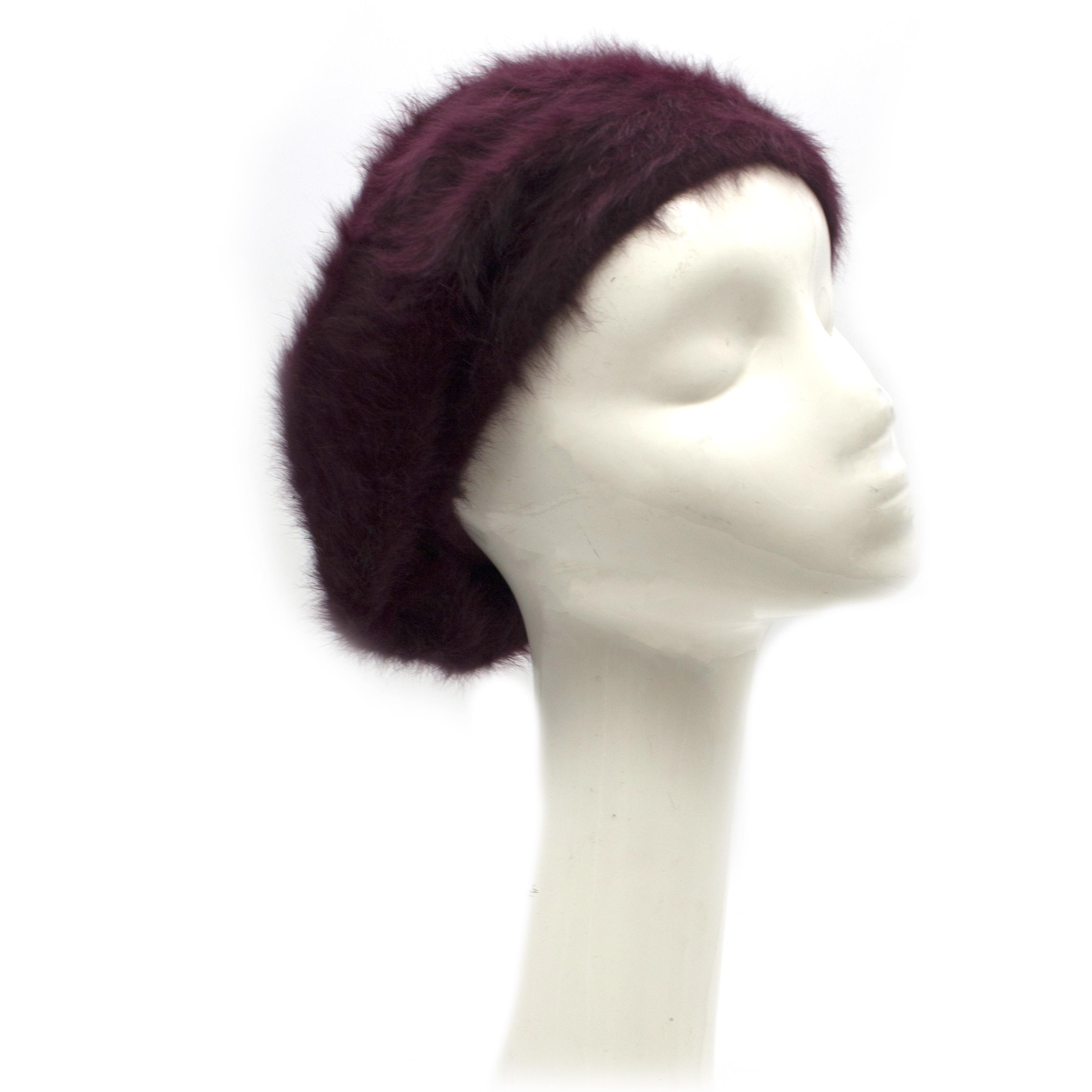 Paul Smith burgundy angora-blend beret