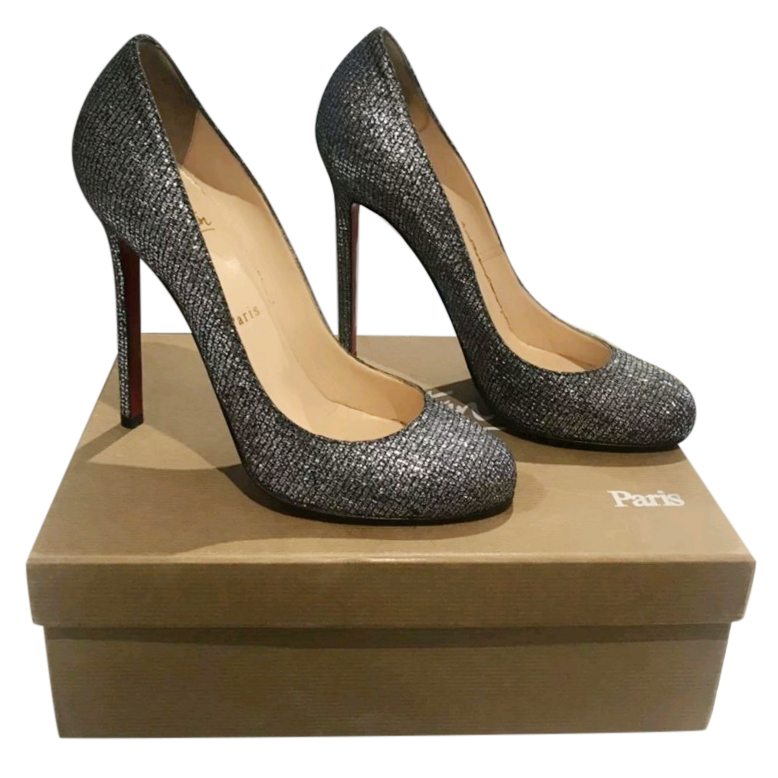 the latest f01f9 31365 Christian Louboutin Glitter Lady Lynch 120 Pumps