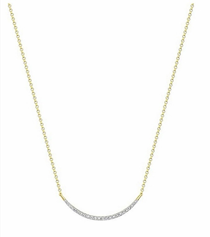 Italian Carissima Diamond Smile Necklace