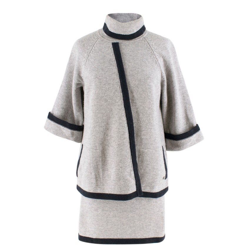 66c157d6181896 Chanel Wool Cashmere Two Piece Skirt Top | HEWI London
