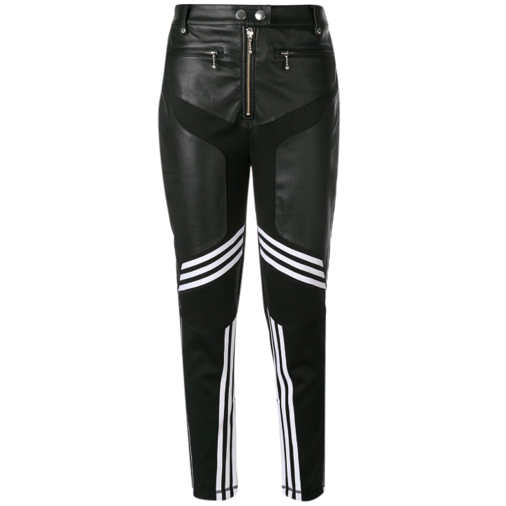 2018 sneakers nice cheap hot-selling fashion Alexander Wang x Adidas Originals Panelled Black Leather Trousers