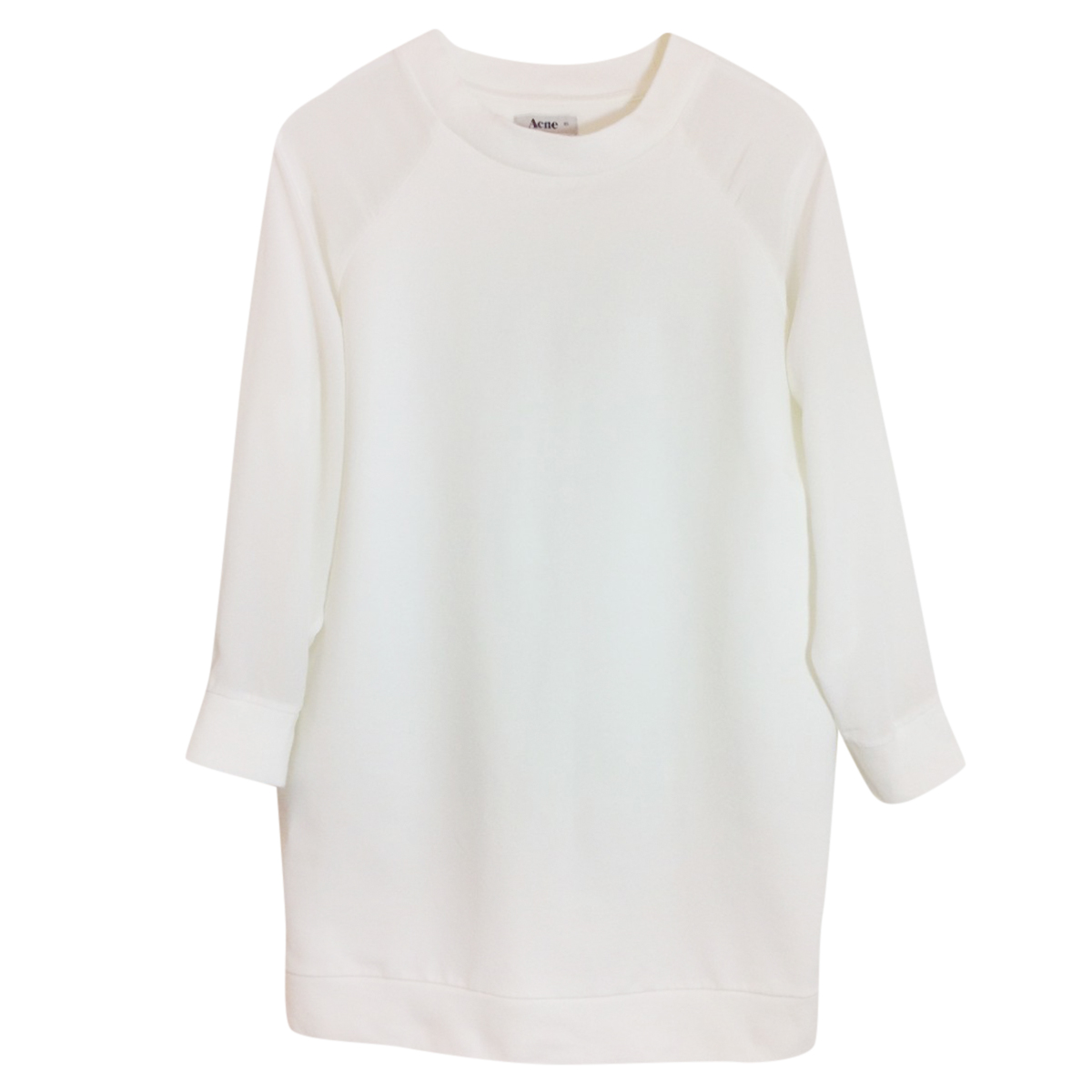 Acne cotton & silk sweatshirt