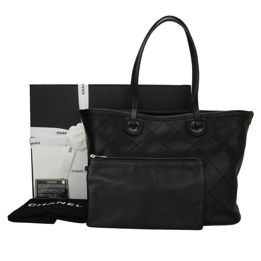 d2b2046e8986 Chanel Large Black Caviar Tote Bag 1   HEWI London