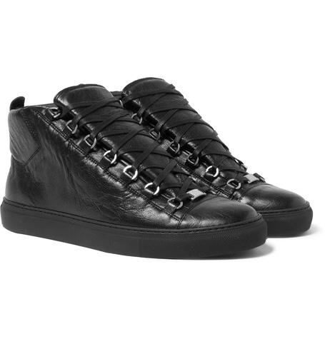 Balenciaga Mens Arena Lace Up Sneakers