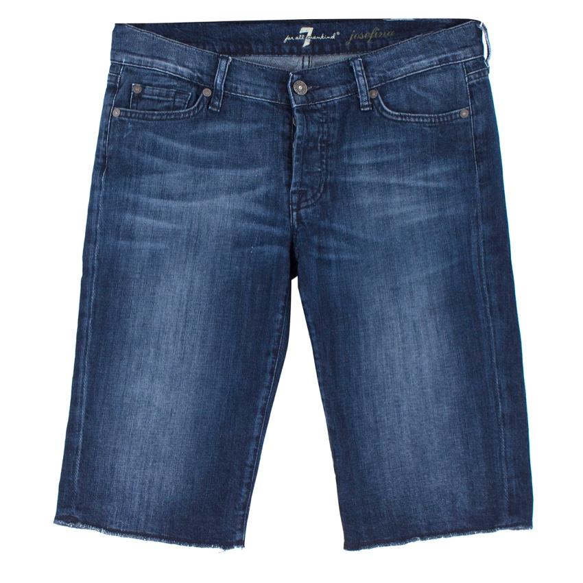 7 For All Mankind Josefina Denim Bermuda Shorts