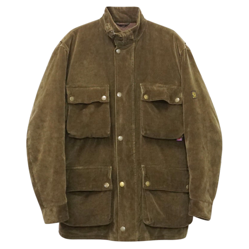 Belstaff Vintage Rare Heavy Corduroy Quilted Gold Motorcycle Jacket