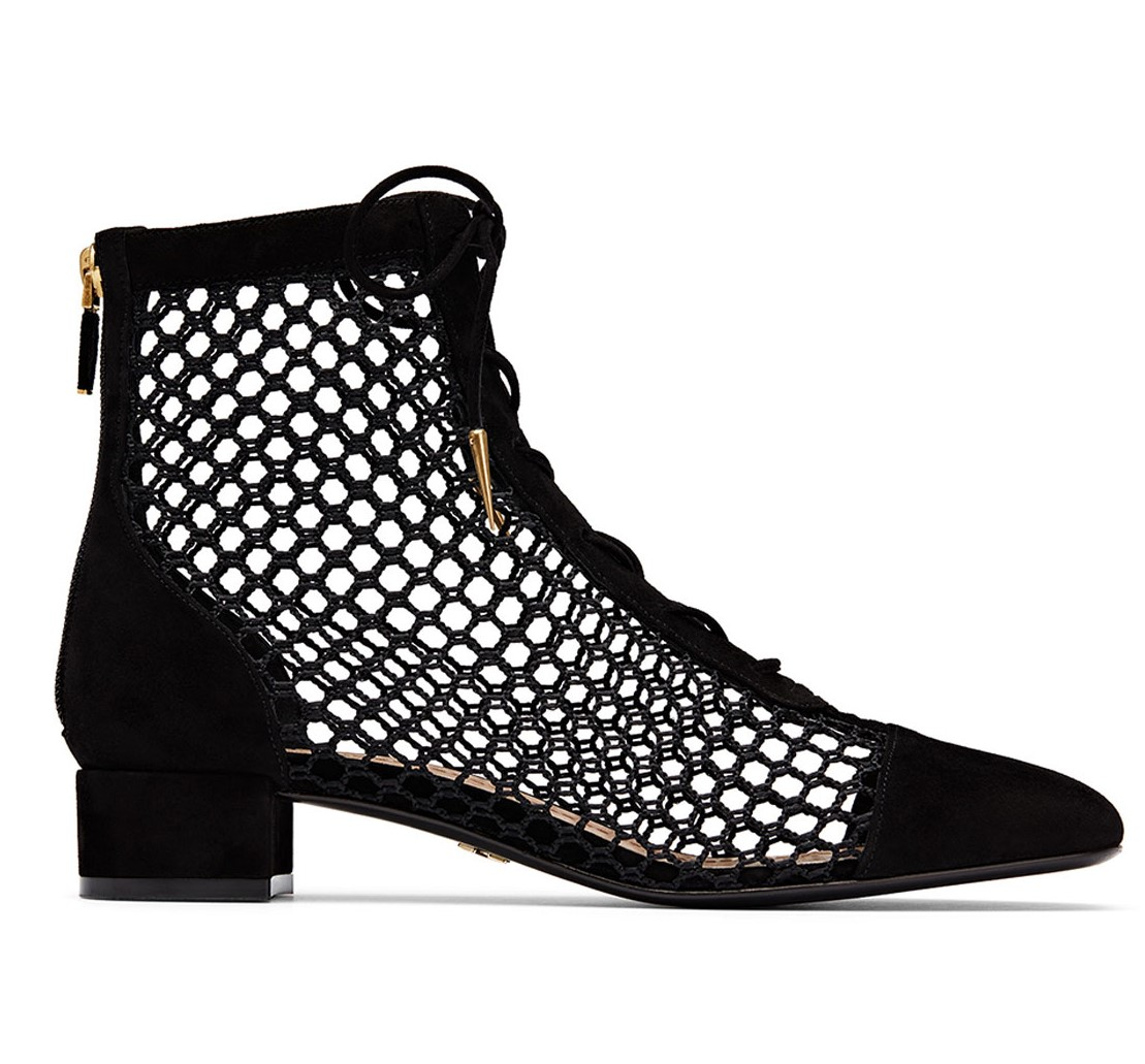 b4109b8d2b3 Dior Black Suede Mesh Naughtilyd Ankle Boots | HEWI London