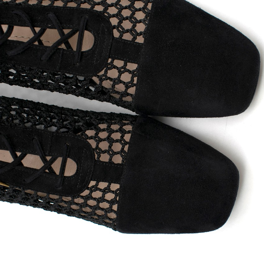 cfe60b641a Dior Black Suede & Mesh Naughtily-d Ankle Boots