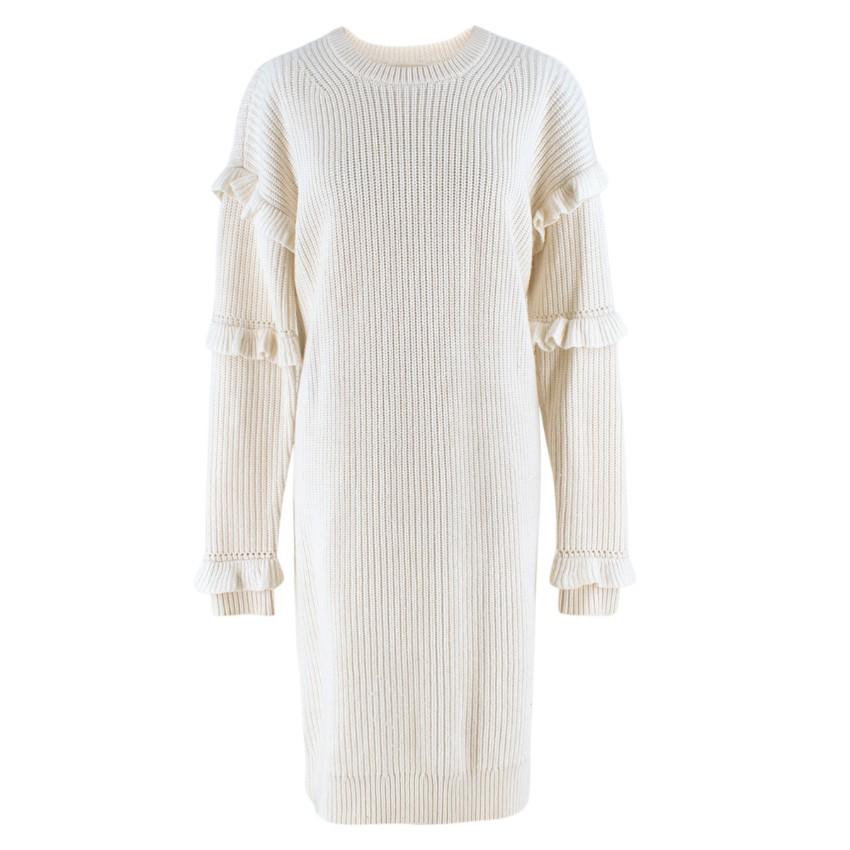 60e22b347d Michael Michael Kors Rufflesleeve Ribbed Sweater Dress