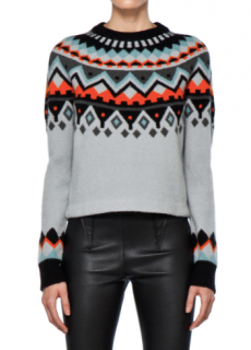 Proenza Schouler Fair Isle wool and cashmere-blend sweater