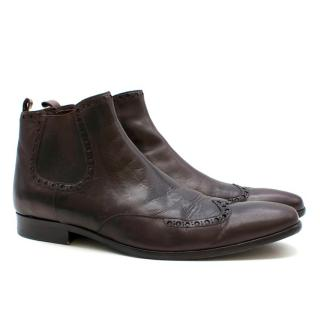 William Hunt Brown Leather Boots