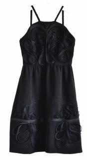 Fendi black silk & wool cocktail dress
