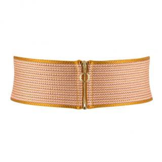Missoni zip-front waist belt