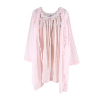 Celestine Light Pink Nightdress and Dressing Gown Set
