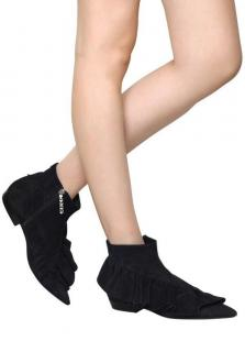 JW ANDERSON Ruffle suede ankle boots