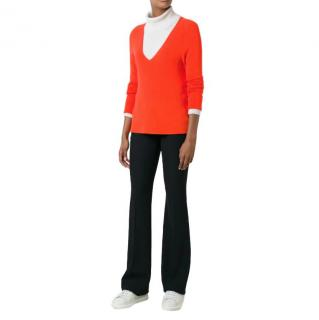 A.L.C. Orange V neck Jumper