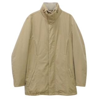 LORO PIANA Storm System Rain & Wind Protection Beige Quilted Jacket