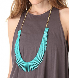 Kenneth Lane turquoise spike necklace