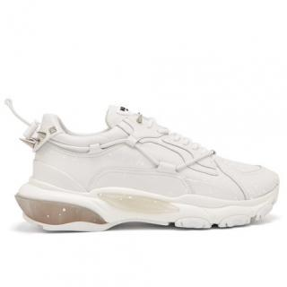 Valentino Bounce Rockstud raised-sole leather trainers