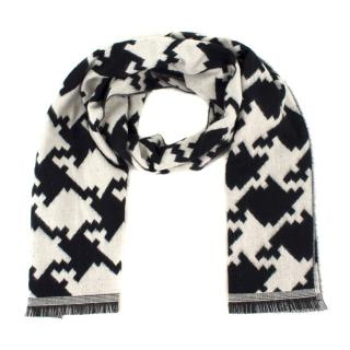 Bespoke Black and White Houndstooth Scarf