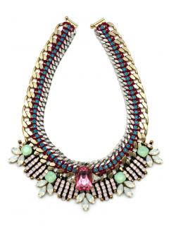 Akong London Tropicana Nude Bib Necklace