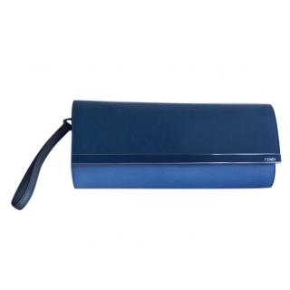 Fendi Two Tone Blue Clutch
