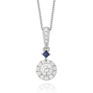 Vera Wang Love Collection 0.38ct Diamond and Sapphire Necklace