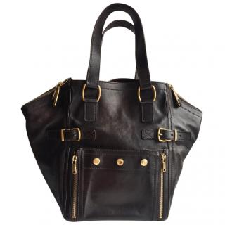 Yves Saint Laurent Brown Leather Downtown Bag
