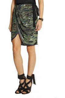 Isabel Marant Felmira Embellished Silk Georgette Wrap Skirt