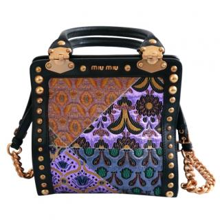 Miu Miu Collector's Binoche Lame Stud & Chain Strap Bag