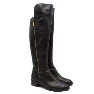 Michael Michael Kors snakeskin-effect leather knee-high boots