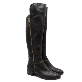 Michael Michael Kors snakeskin-effect leather knee-high boots