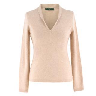 Holland & Holland shawl-collar cashmere sweater