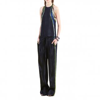 Gucci Black Liquid Lame Jumpsuit.