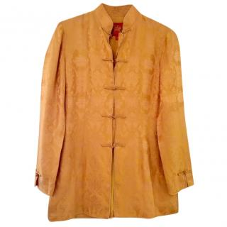 Shanghai Tang golden silk top, size M