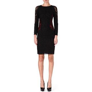 Joseph black & red lace dress