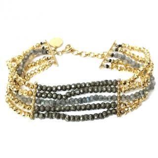 Jade Jagger Labradorite Hand Made Bracelet