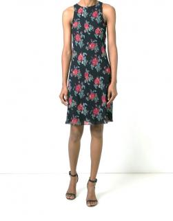 Sant Laurent rose print shift dress