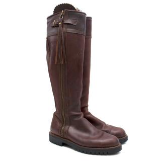 Dukes Nellie brown leather riding boots