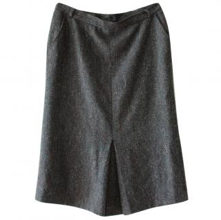 Max Mara Tweed Wool Skirt