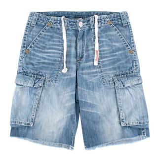 True Religion Blue Denim Shorts