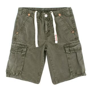 True Religion Green Denim Shorts