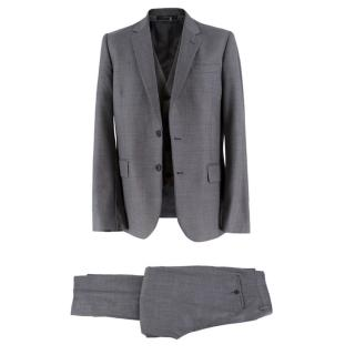 Paul Smith Soho-fit grey three-piece wool suit