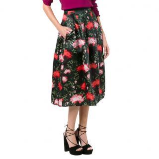 Erdem 'Imari' Silk Skirt in Carnation Print