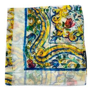 Dolce & Gabbana twill Maiolica scarf