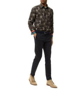 Paul Smith monkey-print cotton shirt